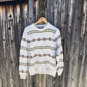 G.H. Bass & Co. Patterned Holiday Crewneck Sweater